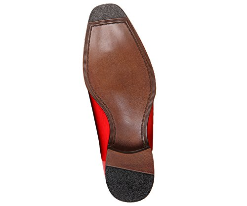 Dress Faux Burnished Black EEL Exotic Bolano Croco Mens Red with Shoes Toe Skin Oxford and 8EqZwTngZ