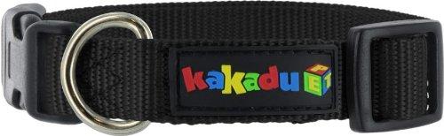 Kakadu Pet Empire Adjustable Nylon Dog Collar, 1/2″ x 10-14″, Midnight  (Black), My Pet Supplies