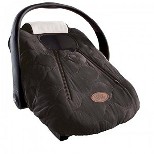 Cozy Cover Infant Car Seat Cover (Black Quilt) - The Industry Leading Infant Carrier Cover Trusted by Over 5.5 Million Moms Worldwide for Keeping Your Baby Cozy & Warm