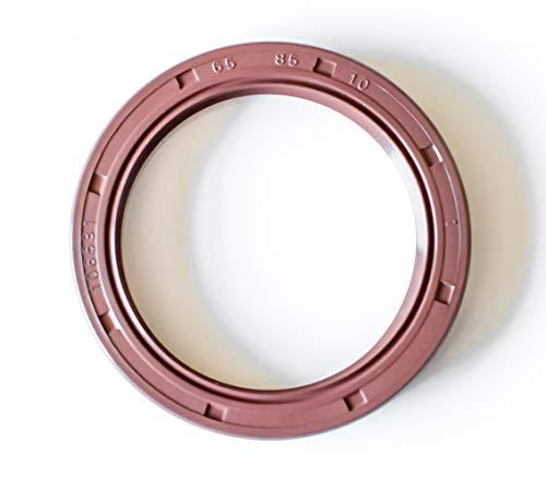 - Oil Seal 65X85X10 Viton Oil Seal Grease Seal TC |EAI Double Lip w/Garter Spring. Single Metal Case w/Viton Rubber Coating. 65mmX85mmX10mm | 2.559