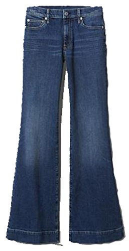 GAP Womens Blue Denim Authentic Flare Mid Rise Stretch Jeans 24/00