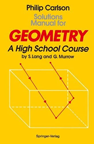 amazon com solutions manual for geometry a high school course rh amazon com Serge Lang Basic Mathematics serge lang linear algebra solutions manual pdf