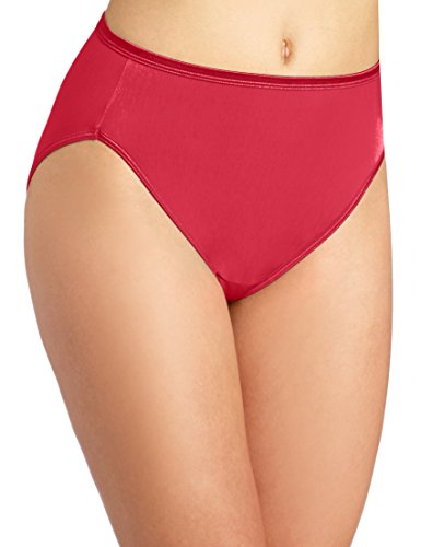 Vanity Fair Women's My Favorite Pants Illumination Hi Cut Brief #13108, Gallahad Red, 8