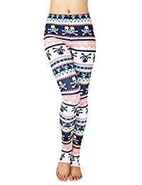 Sister Amy Women's Bright Print Fitted Active Yoga Leggings with Foot Stirrups