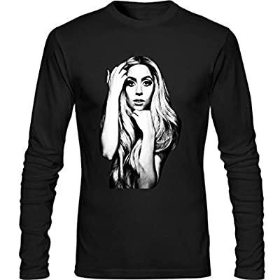 Mens Lady Gaga Fashion Long Sleeve Shirt