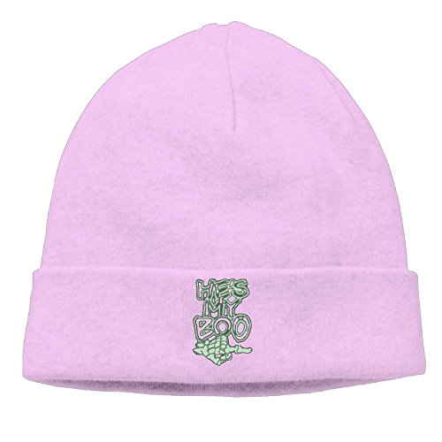 Boo Cap (Richard Lyons Mens Halloween He's My Boo Warm Jogging Pink Beanies Caps Hats)