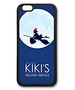 wskshop iPhone 6 Plus Case, Customized Cute Anime Girl Flying Under The Moon Soft Cover Case for iPhone 6 Plus