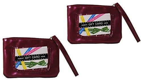 Lot of 2 SOHO Gift Card Wristlet Change Purse Markwins