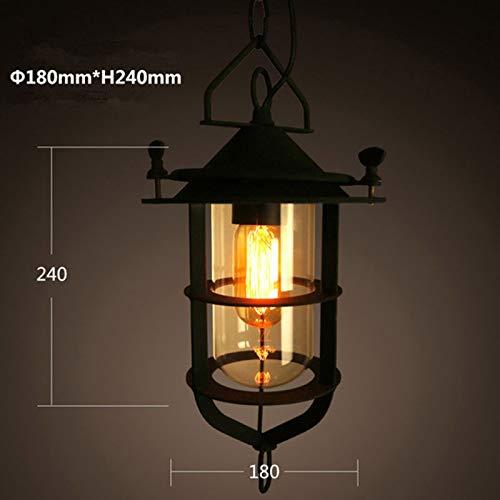 FidgetFidget Retro Loft Chandelier Ceiling Light Fixtures Bar Restaurant Pendant Lamp Lantern by FidgetFidget (Image #3)