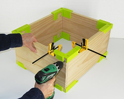Wood Corner Clamp Set - The EZ Way to Build Boxes and Book Shelves - 4 Corner Set