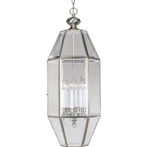 (Progress Lighting P3779-09 6-Sided Foyer Fixture, Brushed Nickel)