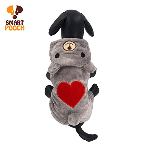 - Puppy Dog Pet Extra Cute Lovely Bear Design Stylish Hoodie Clothings Jumpsuit Jacket Coat Costume Outfit Sweatshirt Doggy Clothes by Smart Pooch