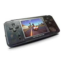 Handheld Game Console, Retro Game Console 3 inch HD Screen Built-in 800 Classic Games, Birthday Parent for Children - Transparent Black