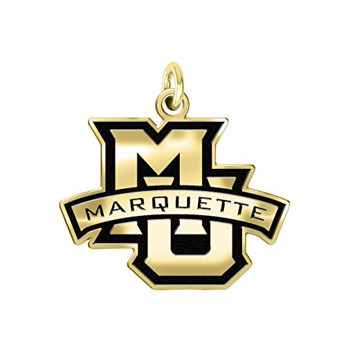 Marquette Golden Eagles 14k Yellow Gold Cut Out Logo College Charm (1/2