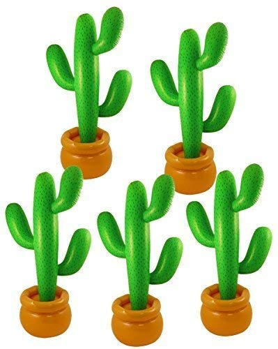 5 x inflable Cactus en maceta con Base - (86cm)