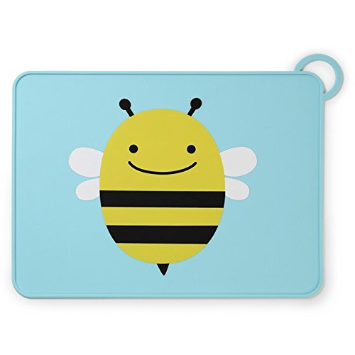 Skip Hop Zoo Fold and Go Silicone Placemat, Brooklyn Bee 252054