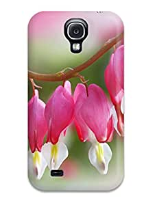 6195162K50063232 Hot Style Protective Case Cover For Galaxys4(flower Hearts)