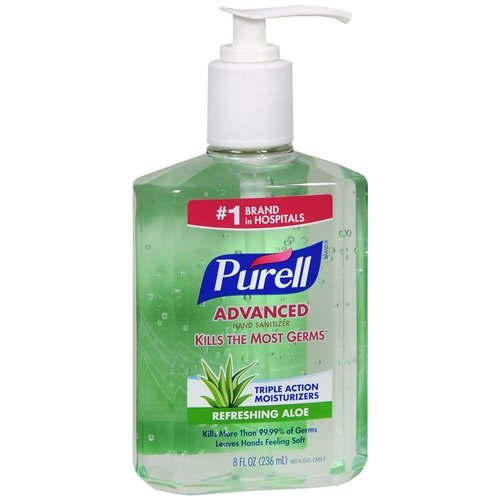 Purell Hand Sanitizer, Advanced, Refreshing Aloe 8 oz (Pack of 6)