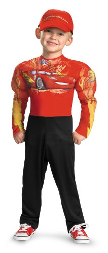 [Lightning Mcqueen Classic Muscle Costume - Small (2T)] (Cars Movie Costumes)