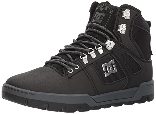 DC Men Spartan High WR Boot Skate Shoe Black/Black/Dark Grey