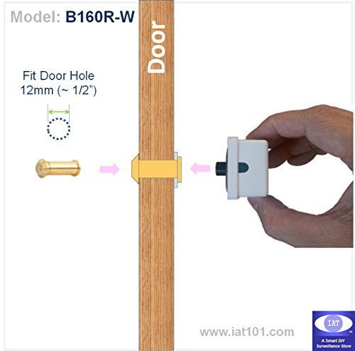 [Easy DIY 160 degree Wide Viewing Angle Door Peephole Viewer Detachable Door Camera (Brass Color)] (160 Degree Viewing Angle)