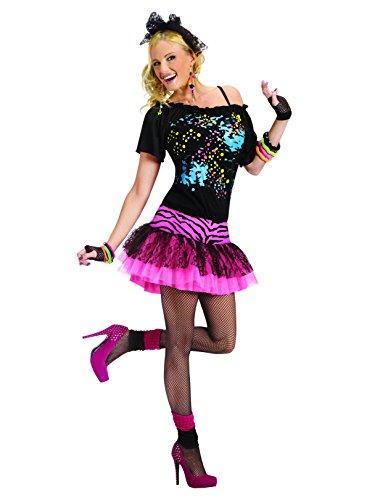 Fun World Women's 80s Pop Party Costume, Multi, Med/Lrg -