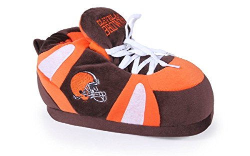 Comfy Feet CLB01-5 - Cleveland Browns - 2XL - Happy Feet NFL Slippers by Comfy Feet