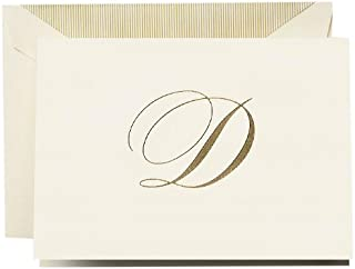 """product image for Crane & Co. Hand Engraved Script""""D"""" Initial Note (CF13D1)"""