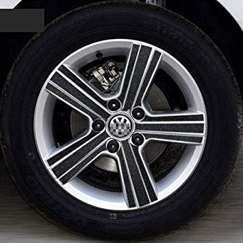 Uniqus Car Wheel Hub Tire Sticker Strip Wheel Rim Tire Protection