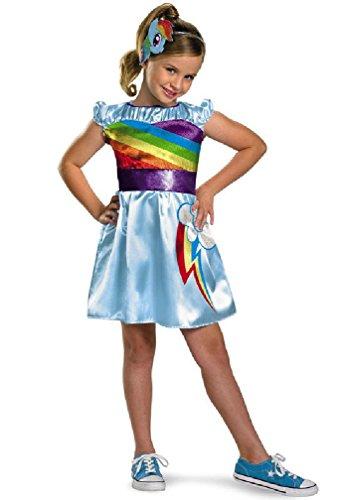 [8eighteen My Little Pony Rainbow Dash TV Classic Child Halloween Costume] (Rainbow Dash Human Costume)