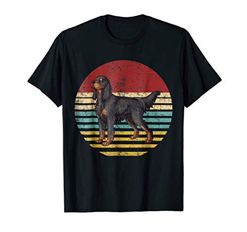 Vintage Retro Gordon Setter Dog Lovers T Shirt