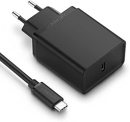 UGREEN Cargador USB C Power Delivery 2.0, USB PD Cargador Rápido QC 3.0 Compatible para Google Pixel 2/ Pixel 2 XL, Macbook Pro, Samsung S8/ S8 Plus, ...