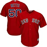 Majestic Athletic Men's Boston Red Sox #50 Mokie Betts Cool Base Scarlet Player Jersey