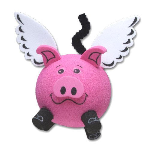 Tenna Tops Flying Pig Car Antenna Topper / Antenna Ball / Car Mirror Dangler