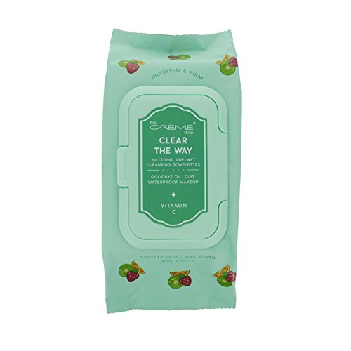 The Crème Shop Korean Cute Gentle and Fresh Advanced Scented Make Up Removal - Clear the way! Korean 60 count Pre-Wet towelettes (Vitamin C)