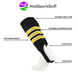 MadSportsStuff Baseball Stirrups by TCK (Pattern D) 3 Stripe with Featheredge (multiple colors)