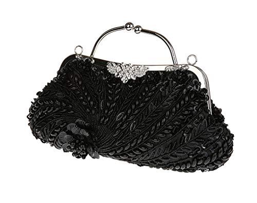 12x7inch maglia Donne cocktail E 31x19cm da paillettes frizione completamente perline borsa antico E formale sera stile matrimonio SSTZqrU