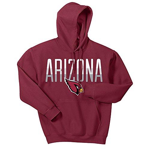 - Zubaz NFL Arizona Cardinals Men's Gradient Logo Hoodie, Medium, Red