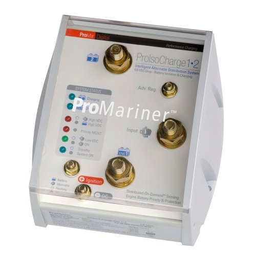 PROMARINER ProMariner ProIsoCharge Battery Isolator 180Amp 1-Alt 2-Bat - 12V / 23122 / (Battery Isolator Promariner)