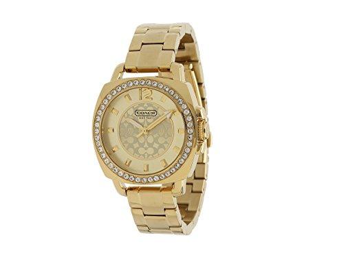 Coach Women's 14501700 Mini Boyfriend Gold Tone Bracelet Watch ()
