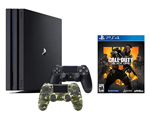 PlayStation 4 Call of Duty Black Ops IIII and 4K HDR PlayStation 4 Pro 1 TB Console with Extra GRN CAMO Dualshock 4 Wireless Controller (Split-Screen Play Available)