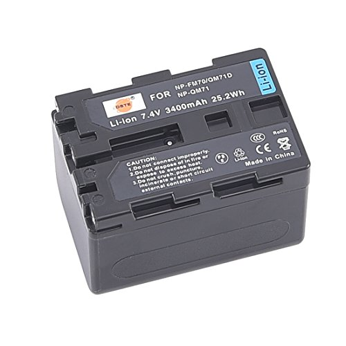 DSTE Replacement for NP-QM71D Li-ion Battery Compatible Sony CCD-TRV338 350 608 DCR-DVD300 301 DCR-PC115 120 330 DCR-TRV6 Camera as NP-FM55H NP-FM70 NP-FM90 NP-QM91
