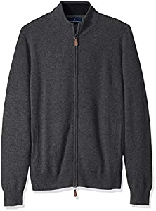 BUTTONED DOWN Men's 100% Premium Cashmere Full-Zip Sweater from Buttoned Down