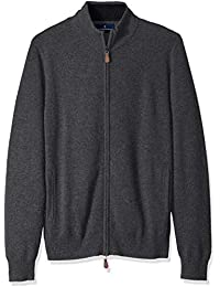 Men's 100% Premium Cashmere Full-Zip Sweater