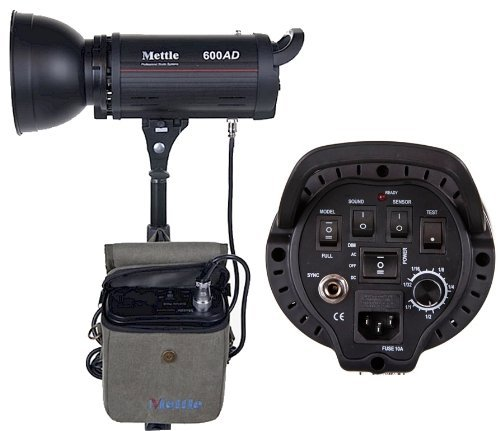 600 Watt Dc Power Pack - Mettle 600W 600 True WS Dual Power AC/DC 110v Monolight Flash with Battery Pack Bowens Compatible