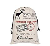 HUAN XUN Personalized Christmas Santa Sack Custom Name Christian Best Gifts Bags for Home Familys