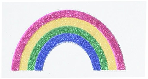 Amscan Party Perfect Team Spirit Rainbow Image Glitter Body Jewelry Accessory, Paper, 2