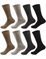 BambooMN - Men's Rayon from Bamboo Fiber Mid-Calf Socks - Size M/L/XL