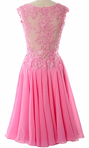 Lace Cocktail MACloth V Neck Prom Dress Formal Homecoming Gown Champagner Short Gorgeous WTaOqaYH