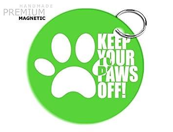 Llavero magnético JCM impresionante Perro patas, verde ...